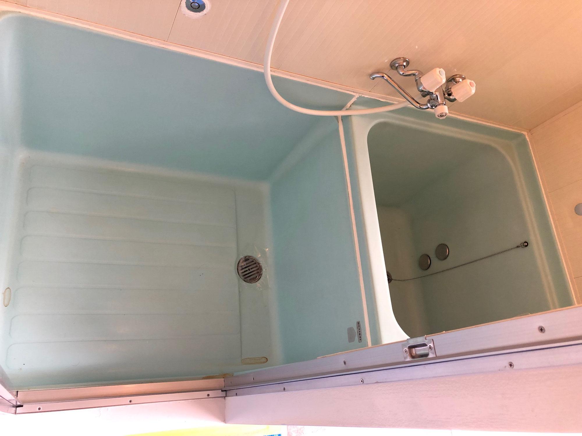 賃貸アパートハーフユニットバス再生塗装 広島県廿日市市宮島口