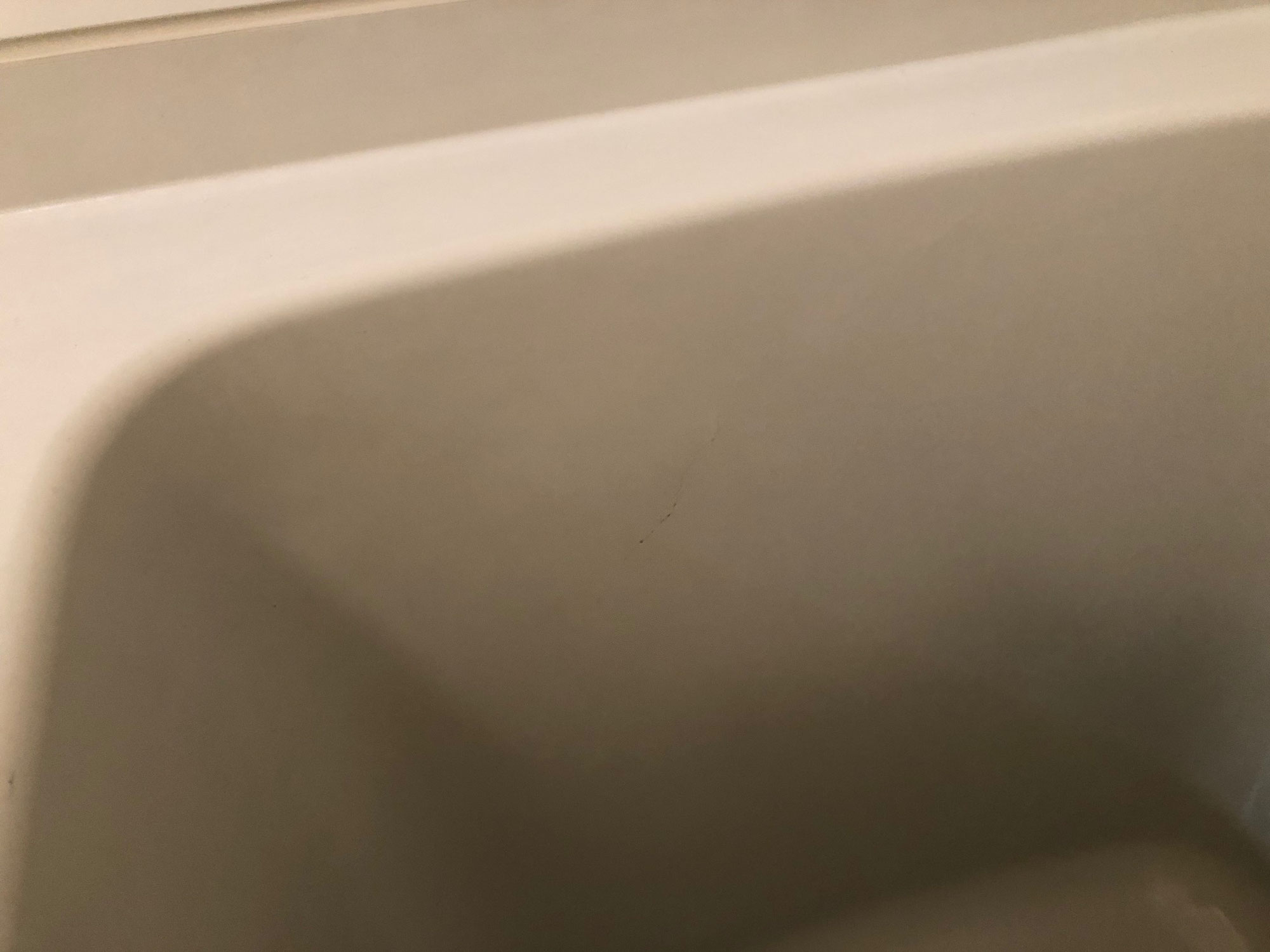 賃貸コーポユニットバスFRP浴槽割れ修理、塗装 高知県高知市玉水町