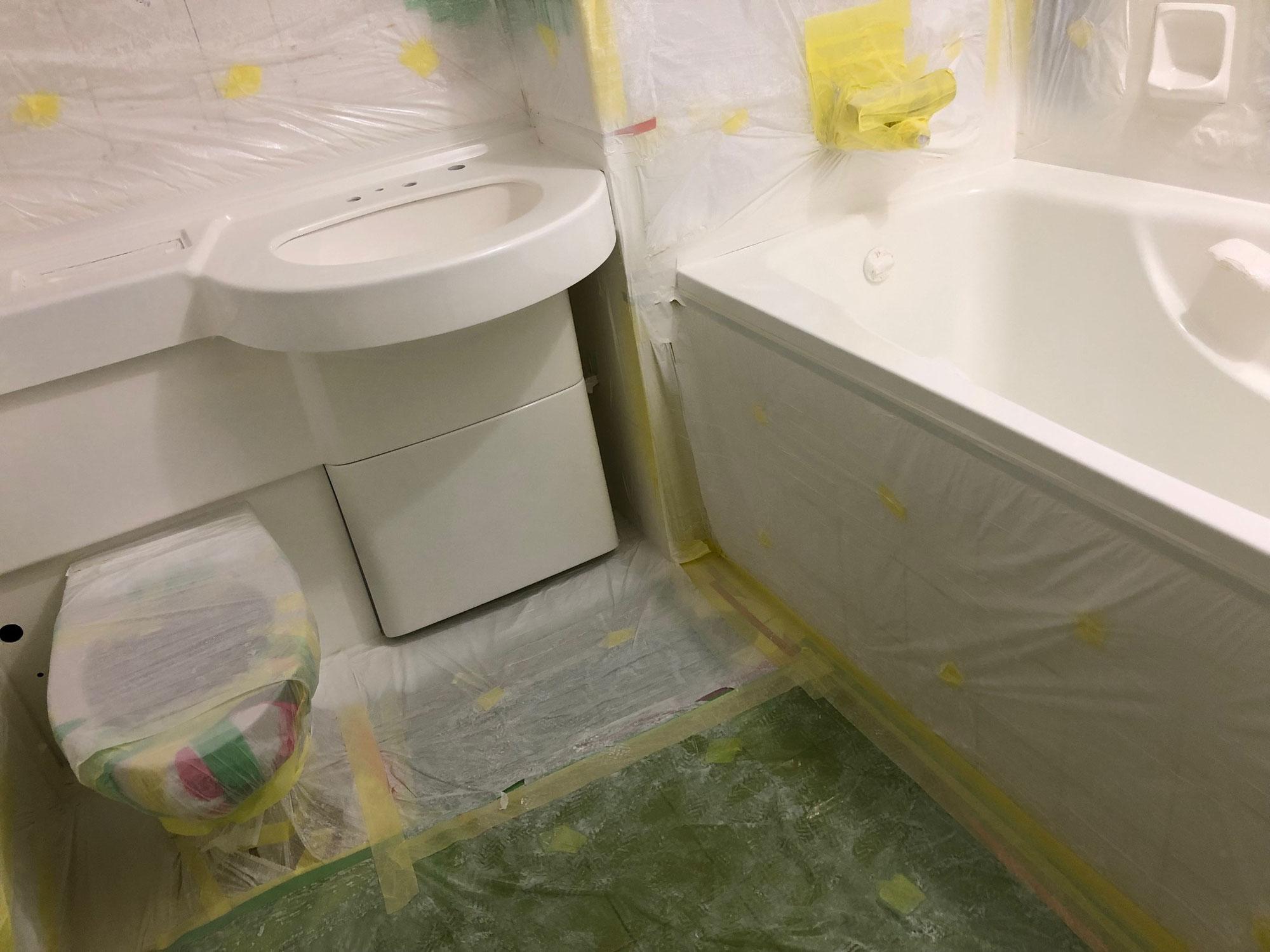 旅館客室浴室再生工事 熊本県人吉市九日町