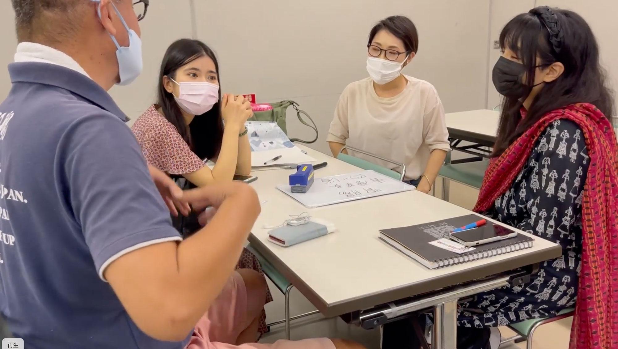 8/22 日本語教室の様子 in 仙台