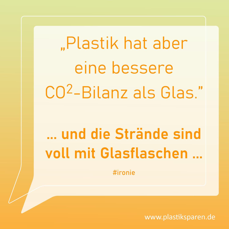 Hat Plastik eine bessere CO2-Bilanz als Glas