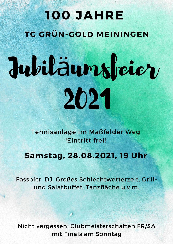 100 Jahre Grün-Gold / Jubiläumsfeier & Clubmeisterschaften 2021
