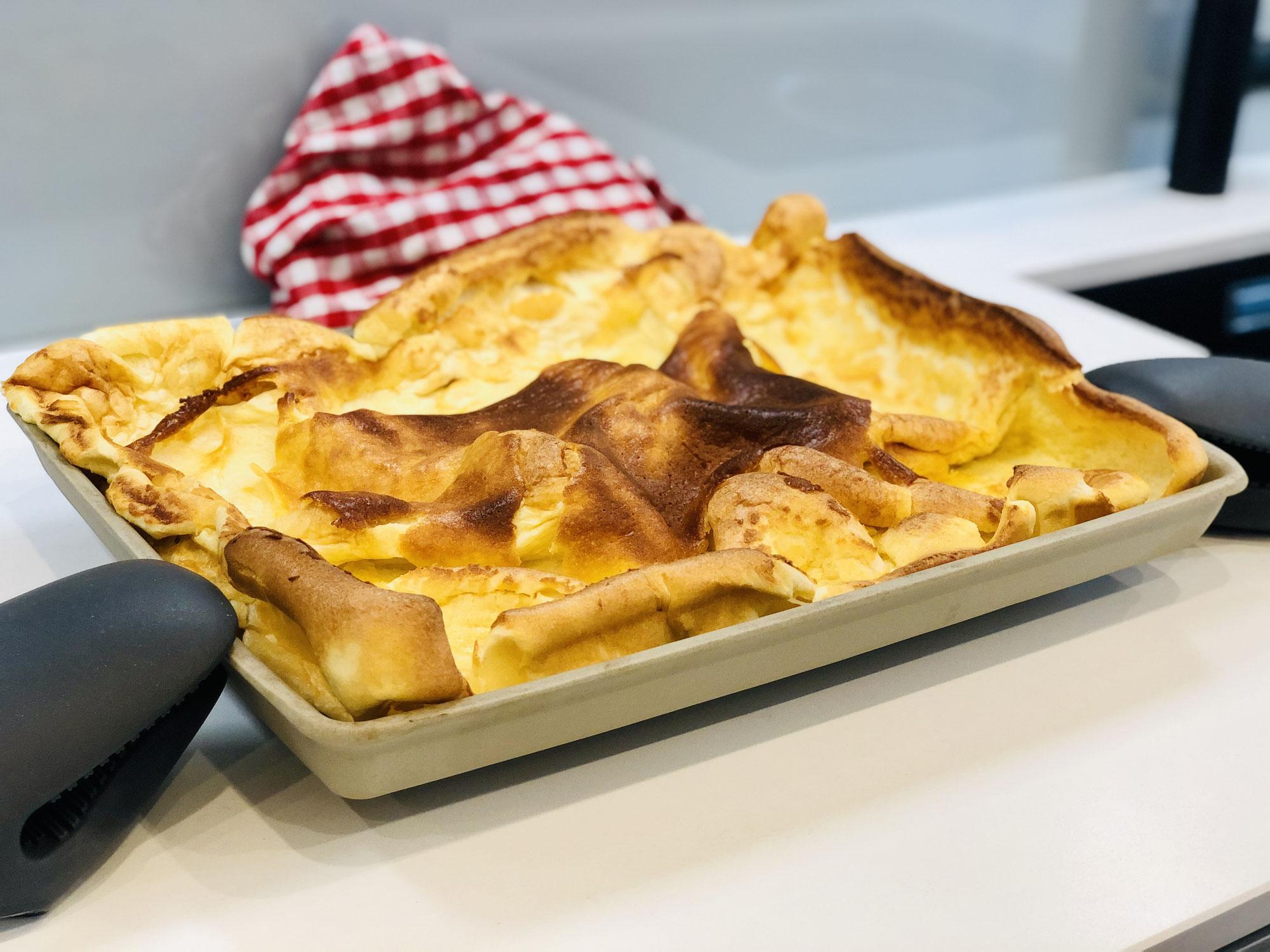 Backofenpfannkuchen zubereitet auf dem Ofenzauberer James von Pampered Chef®