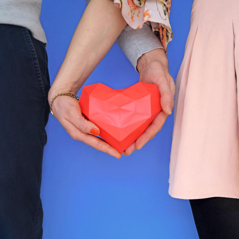 3D Herz Vorlage