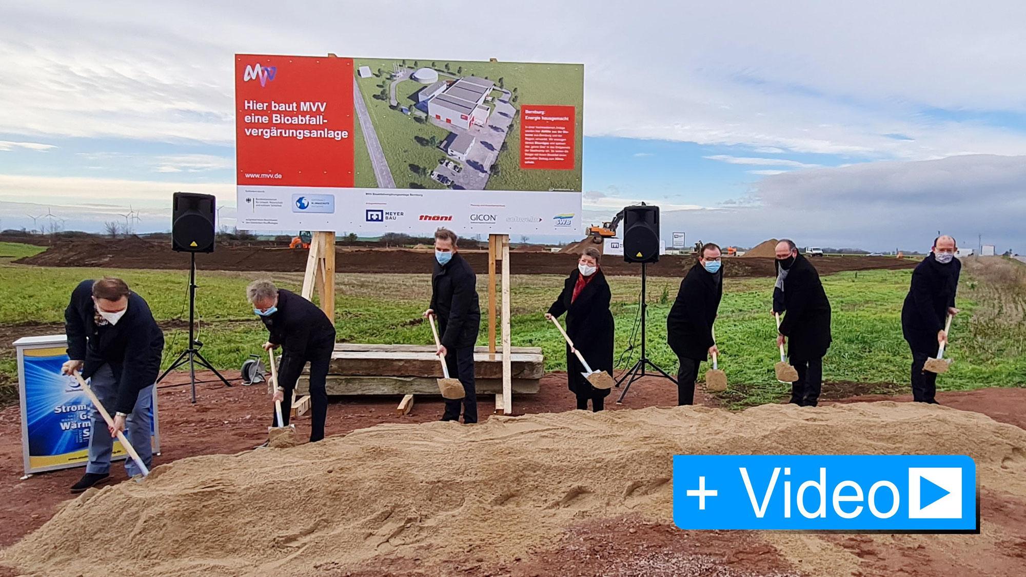 Spatenstich für MVV-Bioabfallvergärungsanlage in Bernburg