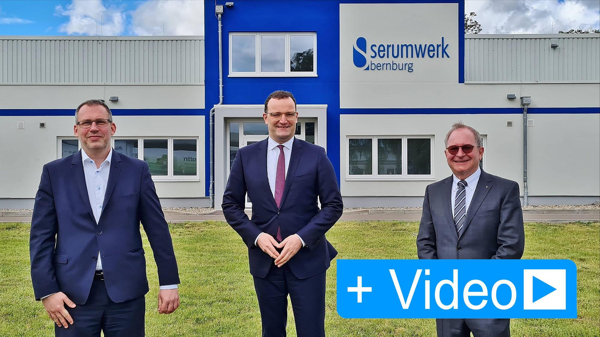 Bundesgesundheitsminister besuchte das Serumwerk Bernburg