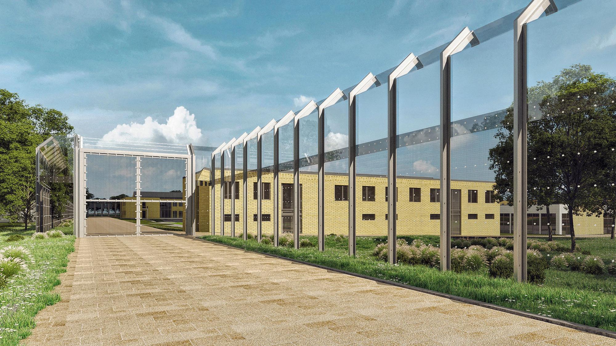 Bau eines Hochsicherheitszaunes im Maßregelvollzug Bernburg