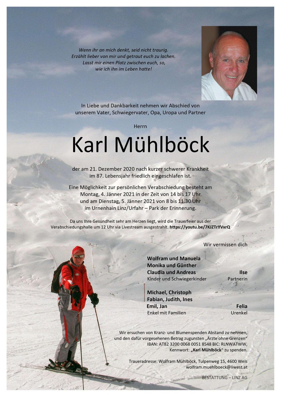 Wir trauern um unseren langjährigen Instruktor Karl Mühlböck