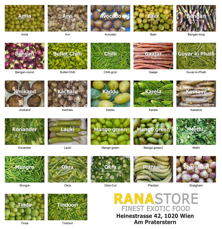Gemüse aus unserem Sortiment