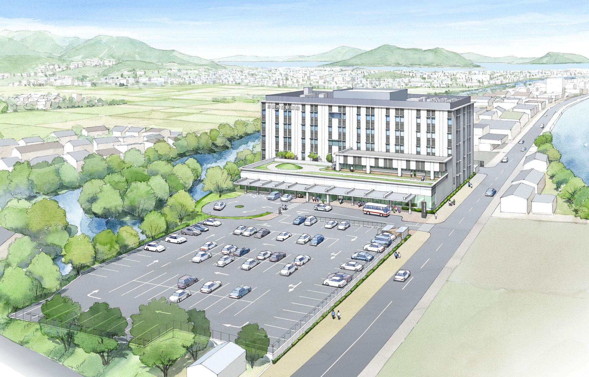 新しい三豊市立栄康病院の設計と施工