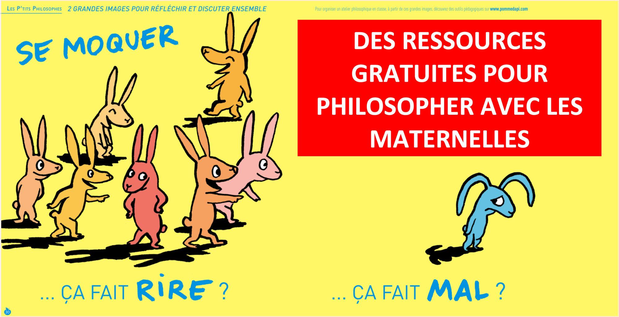Ressources gratuites pour PHILOSOPHER AVEC LES MATERNELLES (Les P'tits Philosophes de Pomme d'Api)