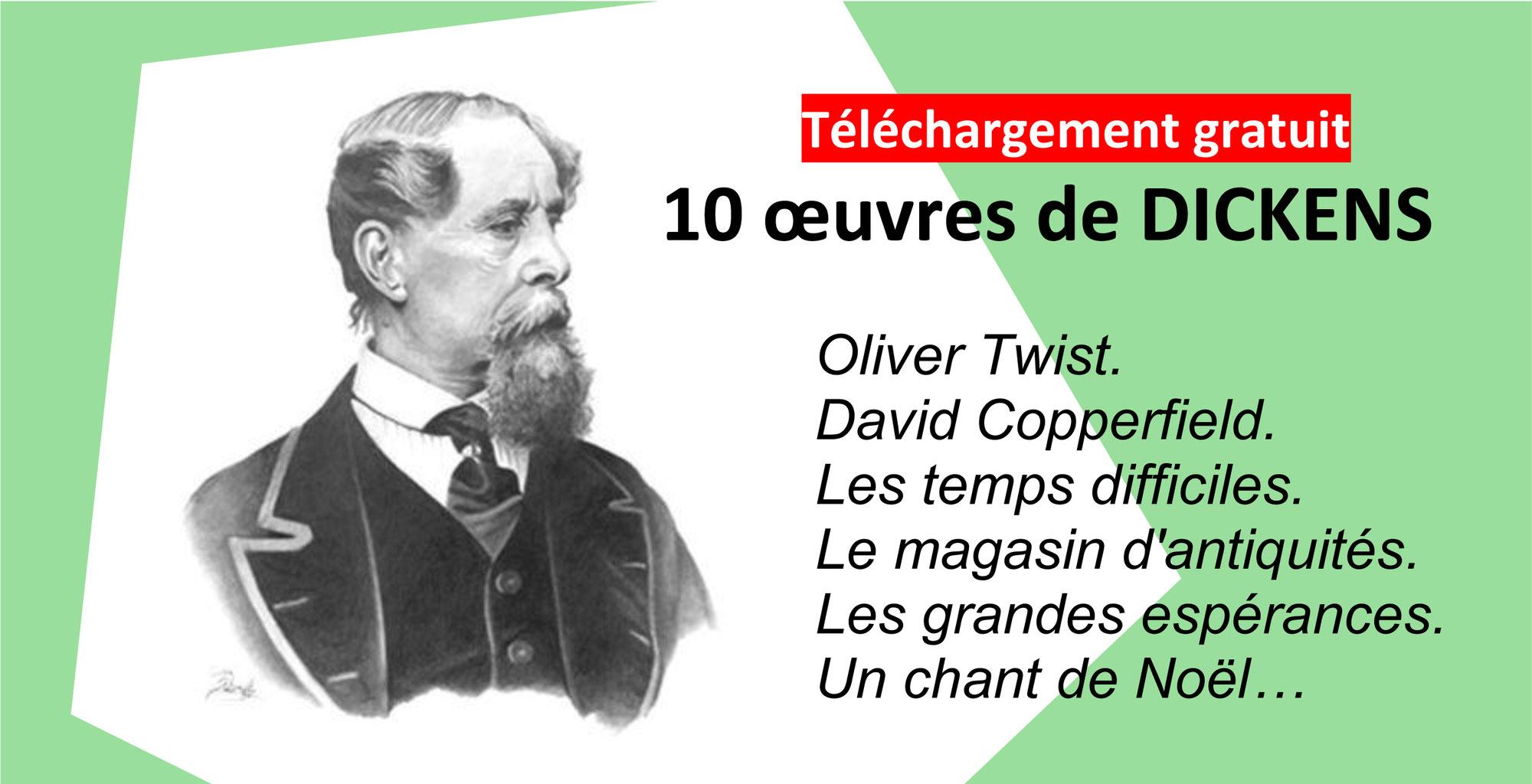 10 OEUVRES DE CHARLES DICKENS en téléchargement gratuit (format PDF et Ebook)
