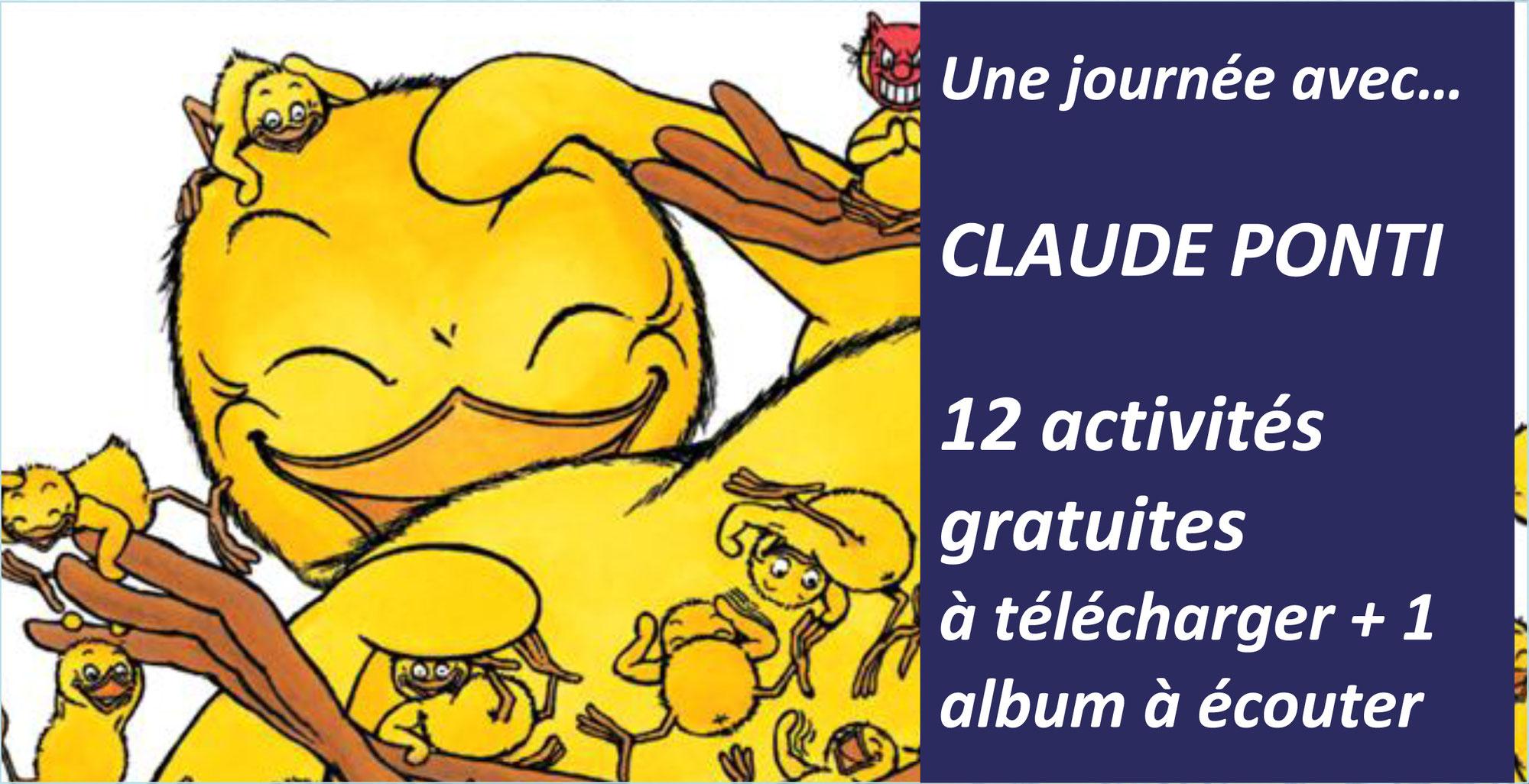 12 activités gratuites pour s'amuser et réfléchir autour des albums de CLAUDE PONTI (Ecole des loisirs)
