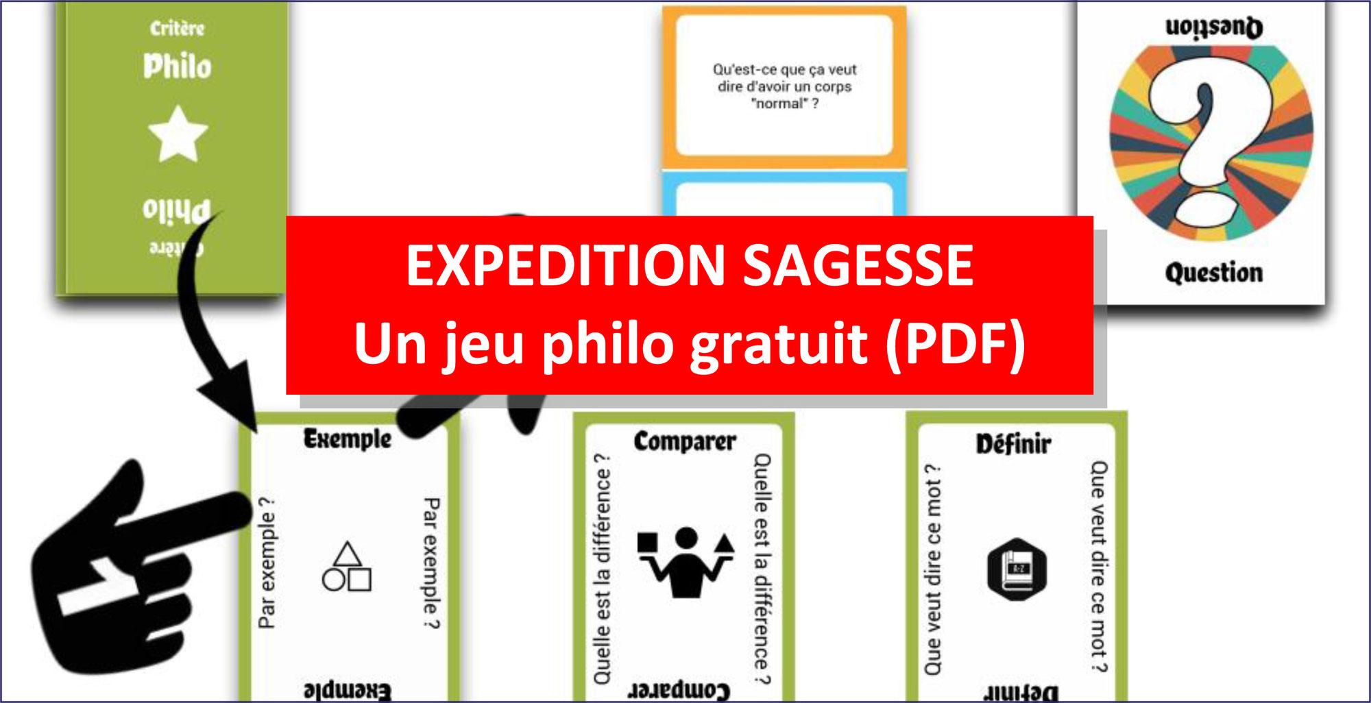 EXPÉDITION SAGESSE: un JEU GRATUIT pour philosopher avec les enfants (PDF 39 pages à télécharger)