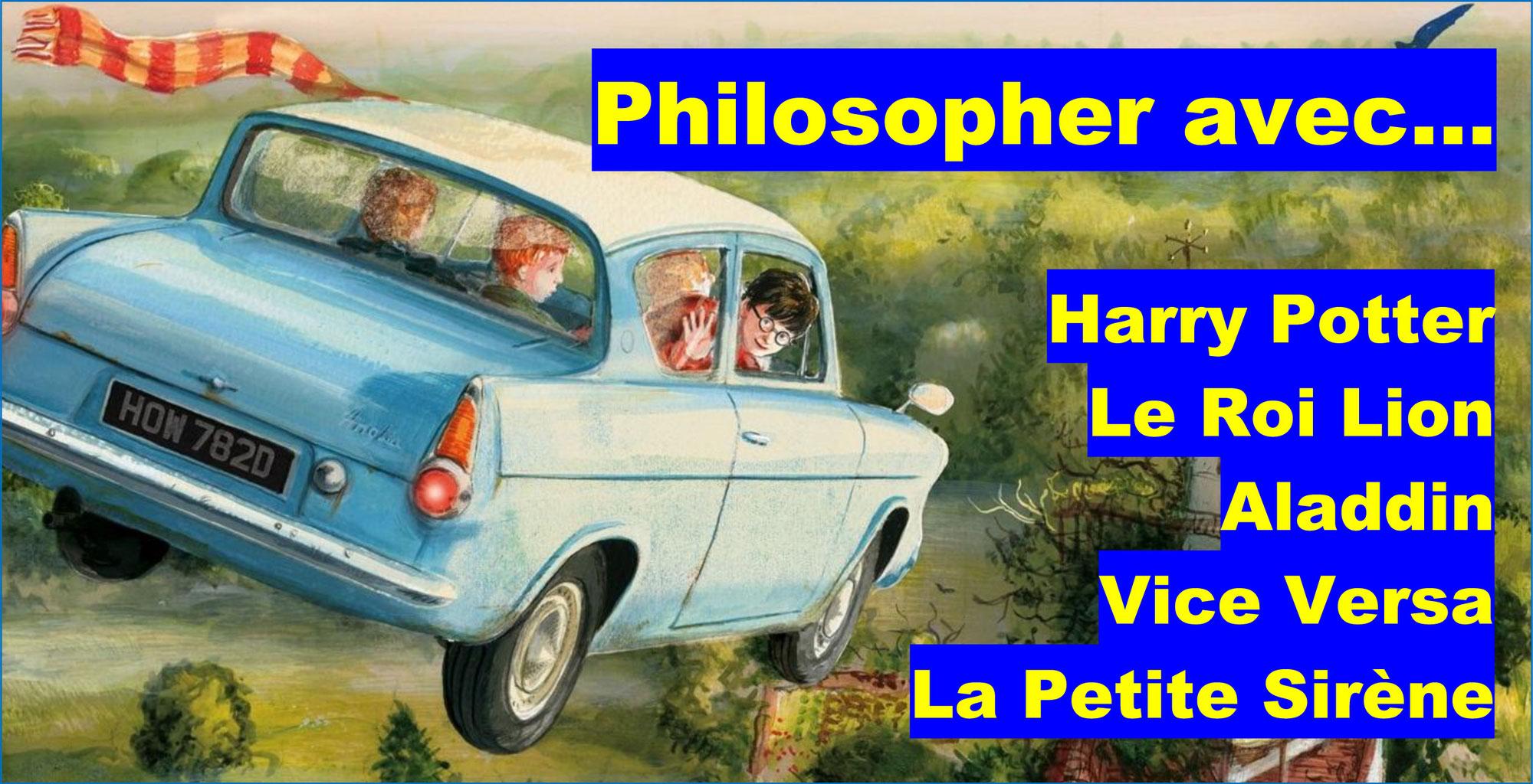 Philosopher avec HARRY POTTER et les héros de dessins animés