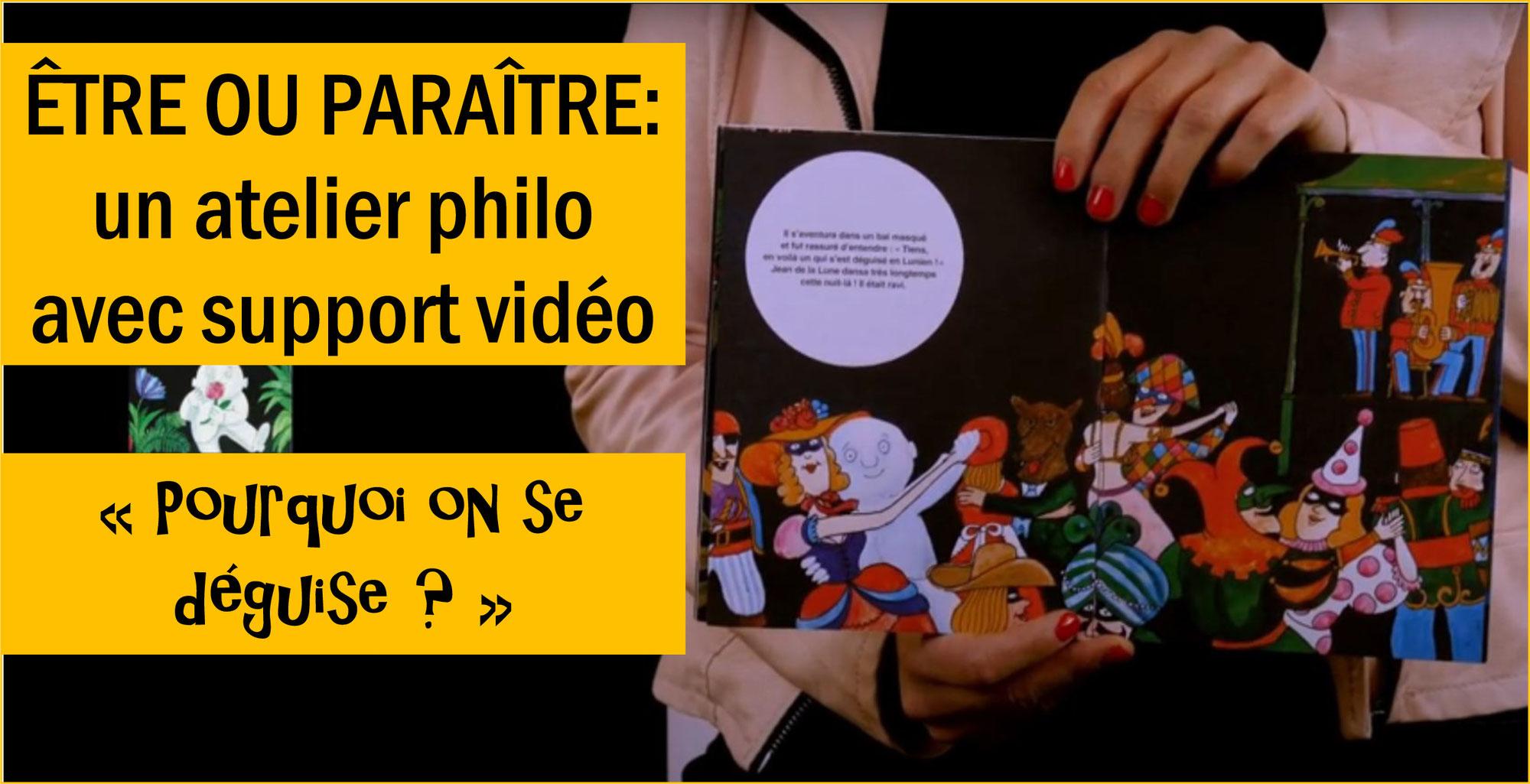 """""""POURQUOI ON SE DÉGUISE?"""" Un atelier philo guidé par un tuto vidéo avec Charlie RENARD (Philo Marmots)"""