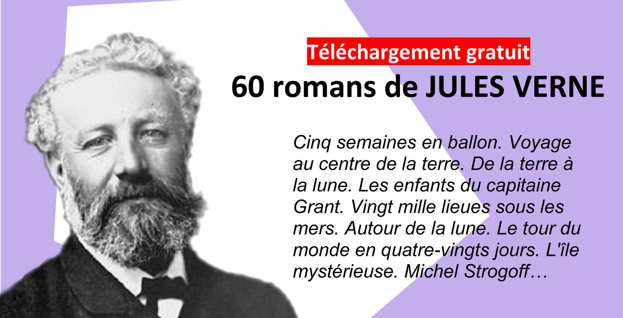 60 ROMANS DE JULES VERNE en téléchargement gratuit (format PDF et Ebook)