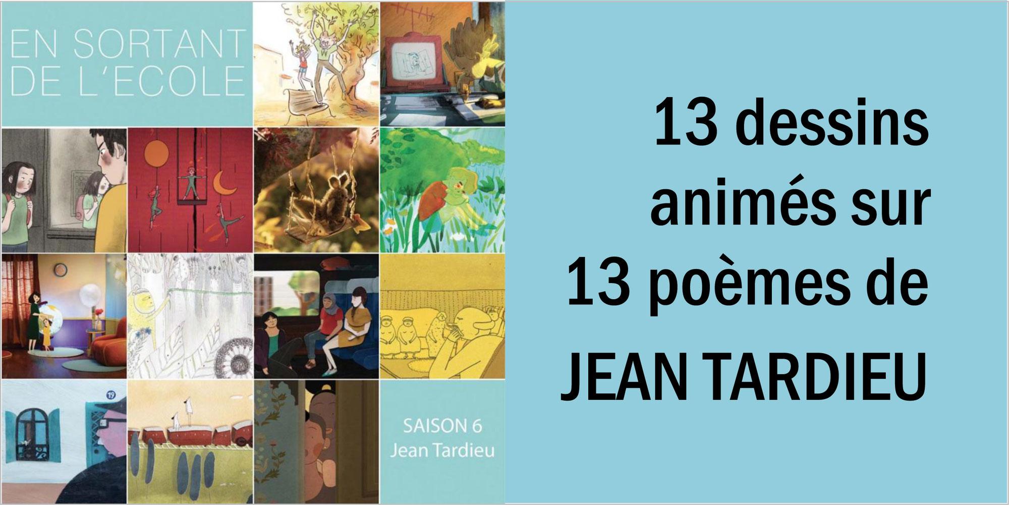 """""""En sortant de l'école"""": 13 dessins animés sur les poèmes de JEAN TARDIEU"""