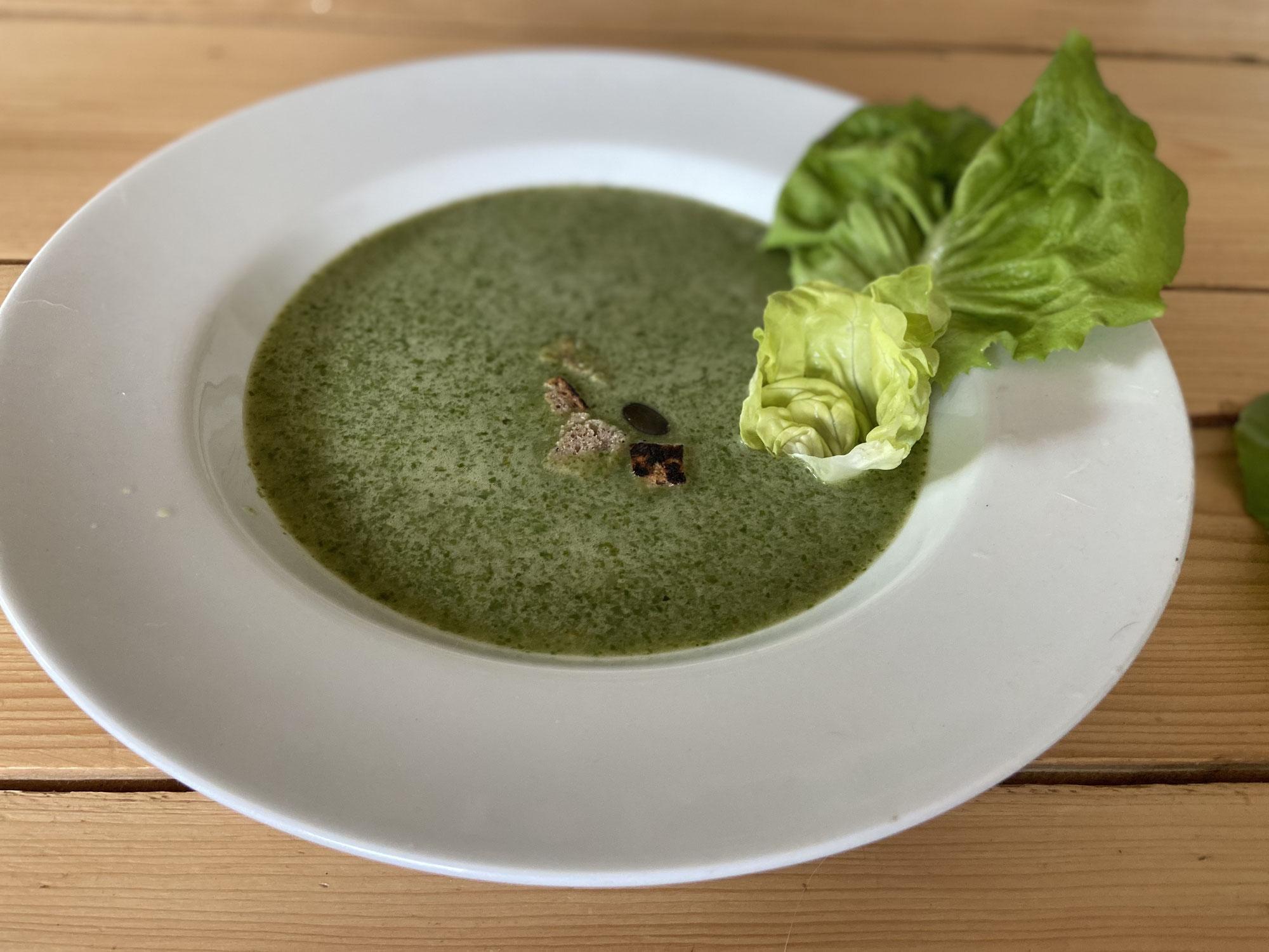 (Kopf)Salat Suppe
