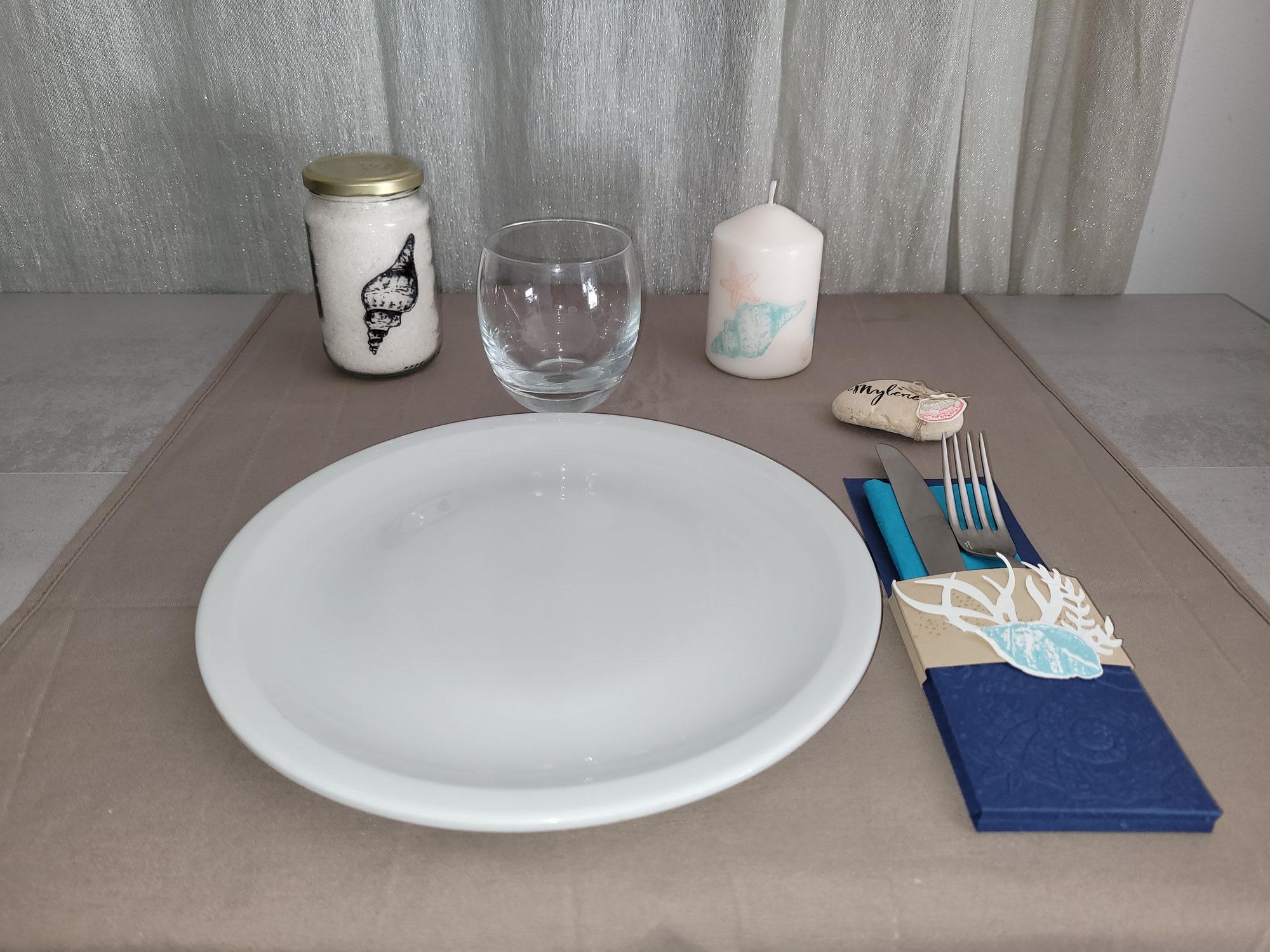 Décoration de table esprit de la mer