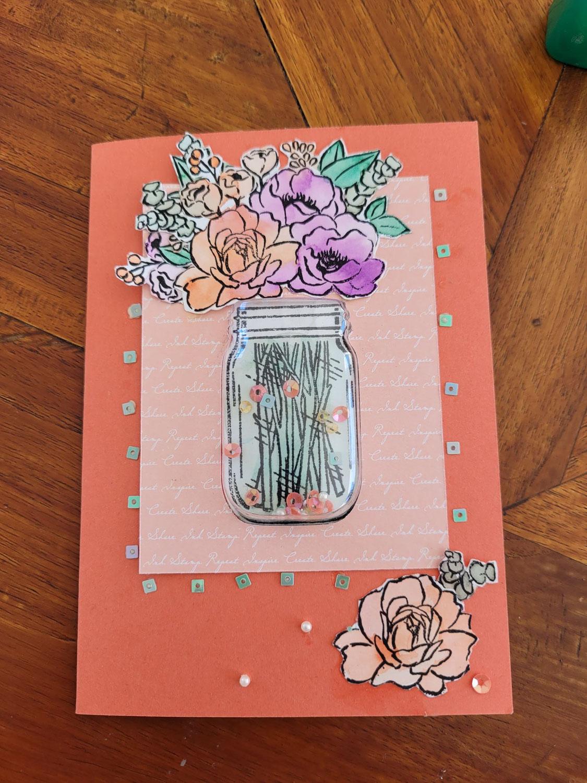 Réalisez une carte à secouer fleurie