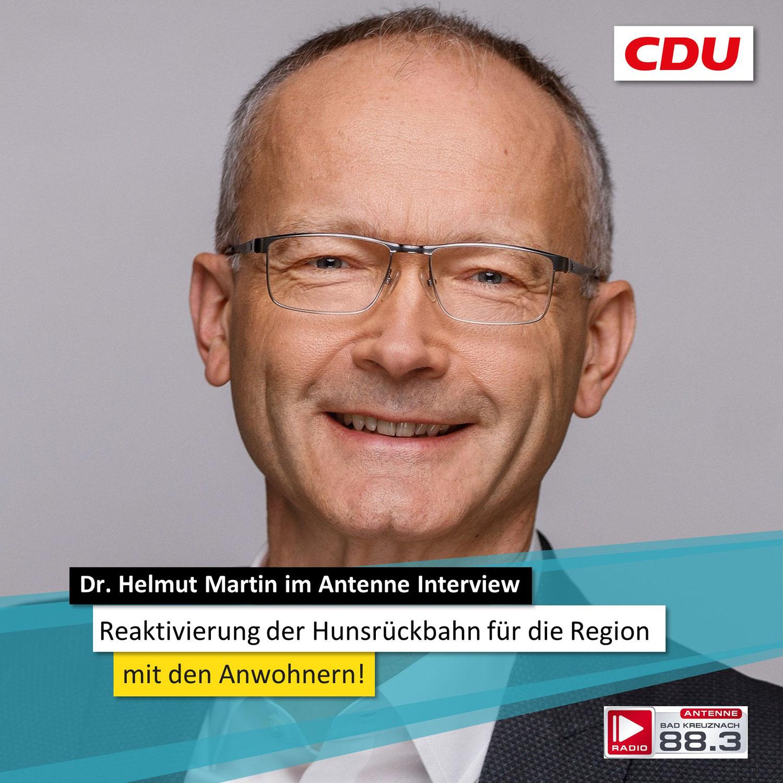 Dr. Helmut Martin im Antenne-Interview zur Reaktivierung der Hunsrückbahn