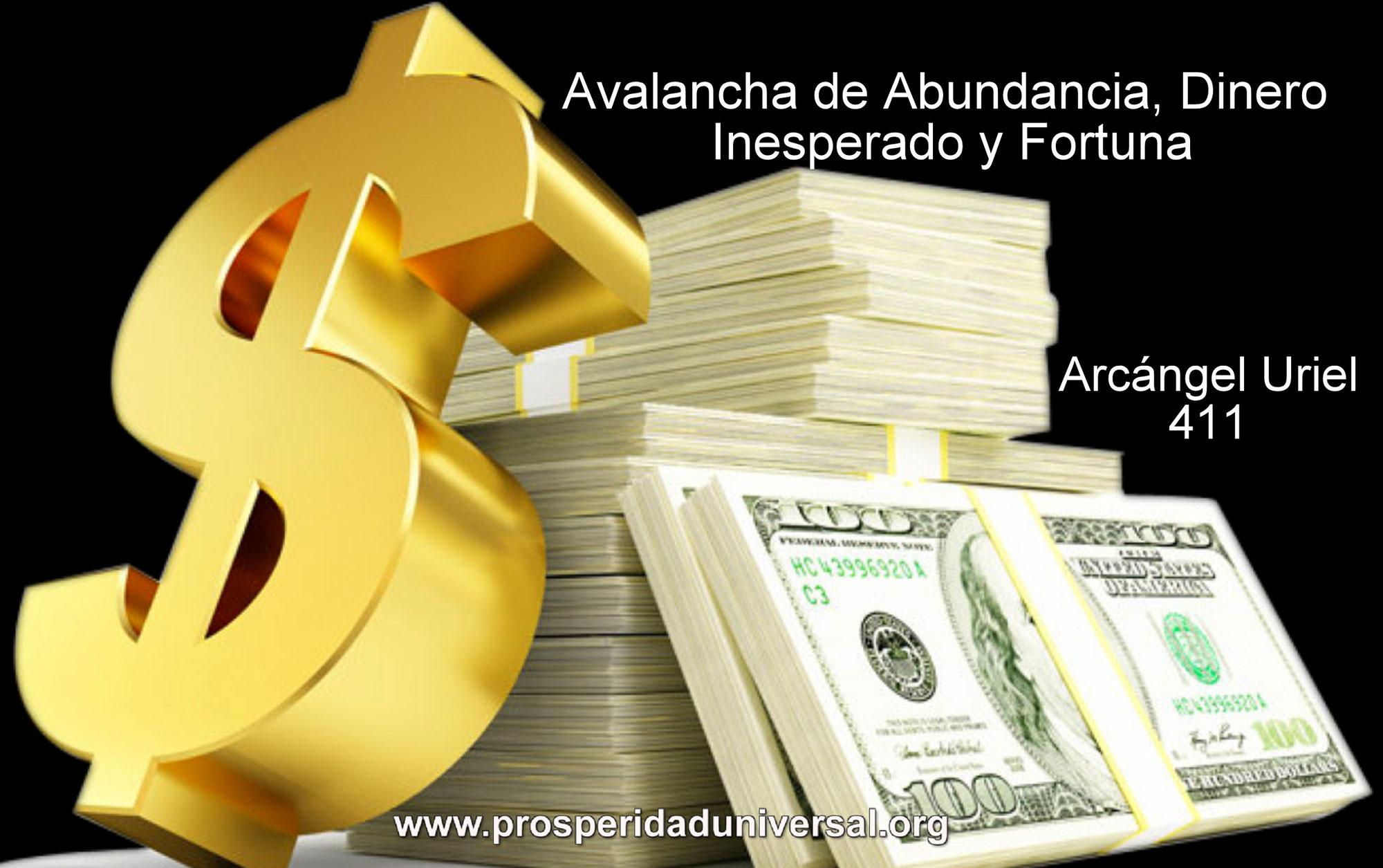 AVALANCHA DE ABUNDANCIA, DINERO INESPERADO Y FORTUNA