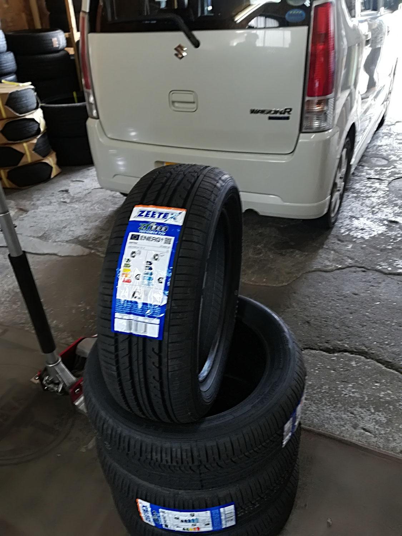 新品タイヤ交換ご来店☆ワゴンR 165/55R14