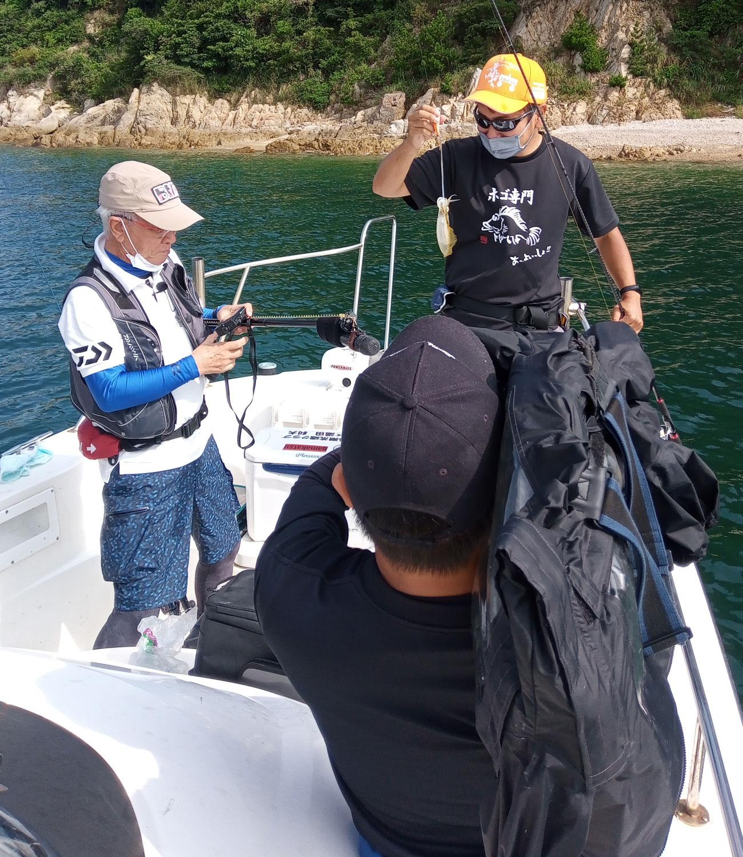 9月5日 チョーさんの釣り情報の取材