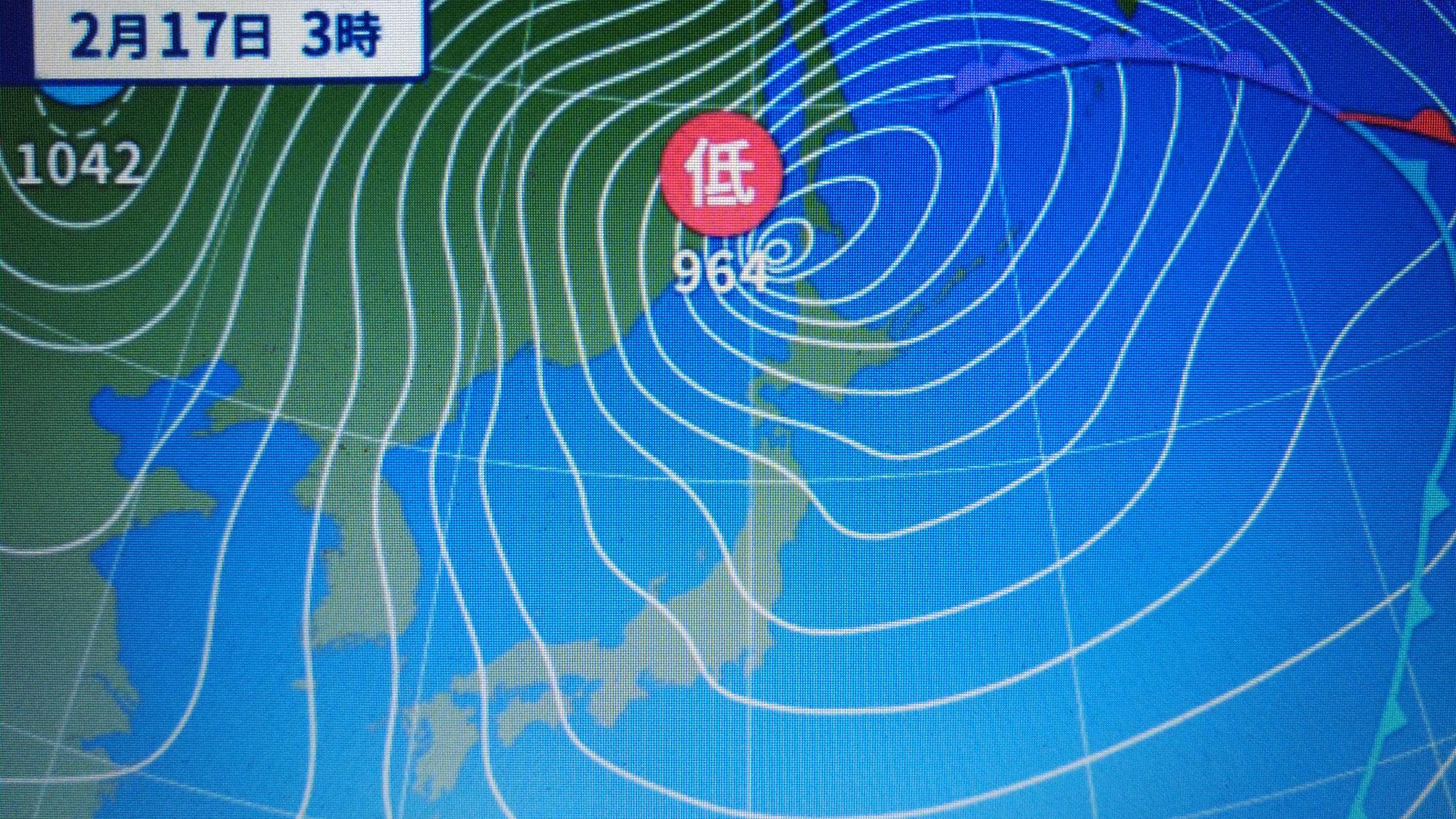 2月17日 最強寒波