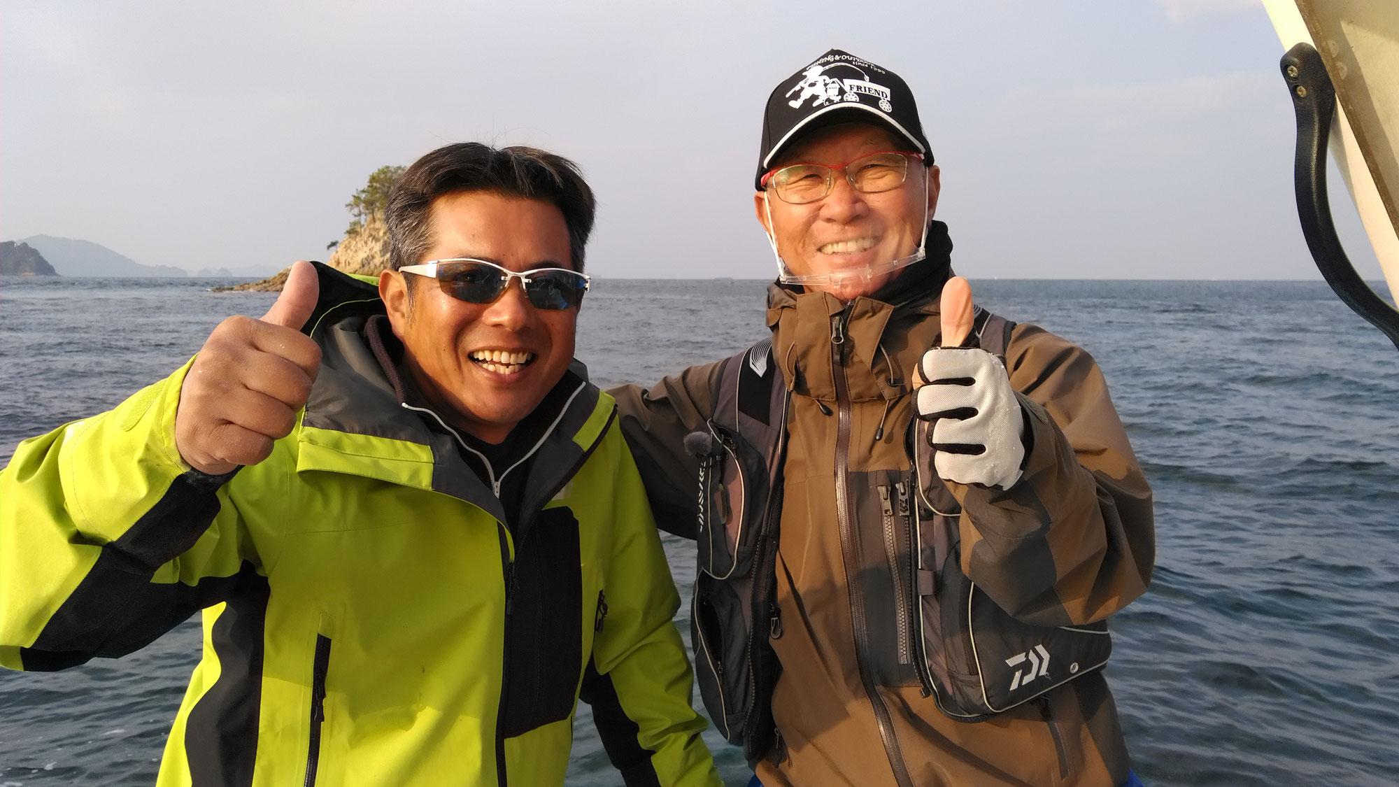 12月12日決定版チョーさんの釣り情報の取材