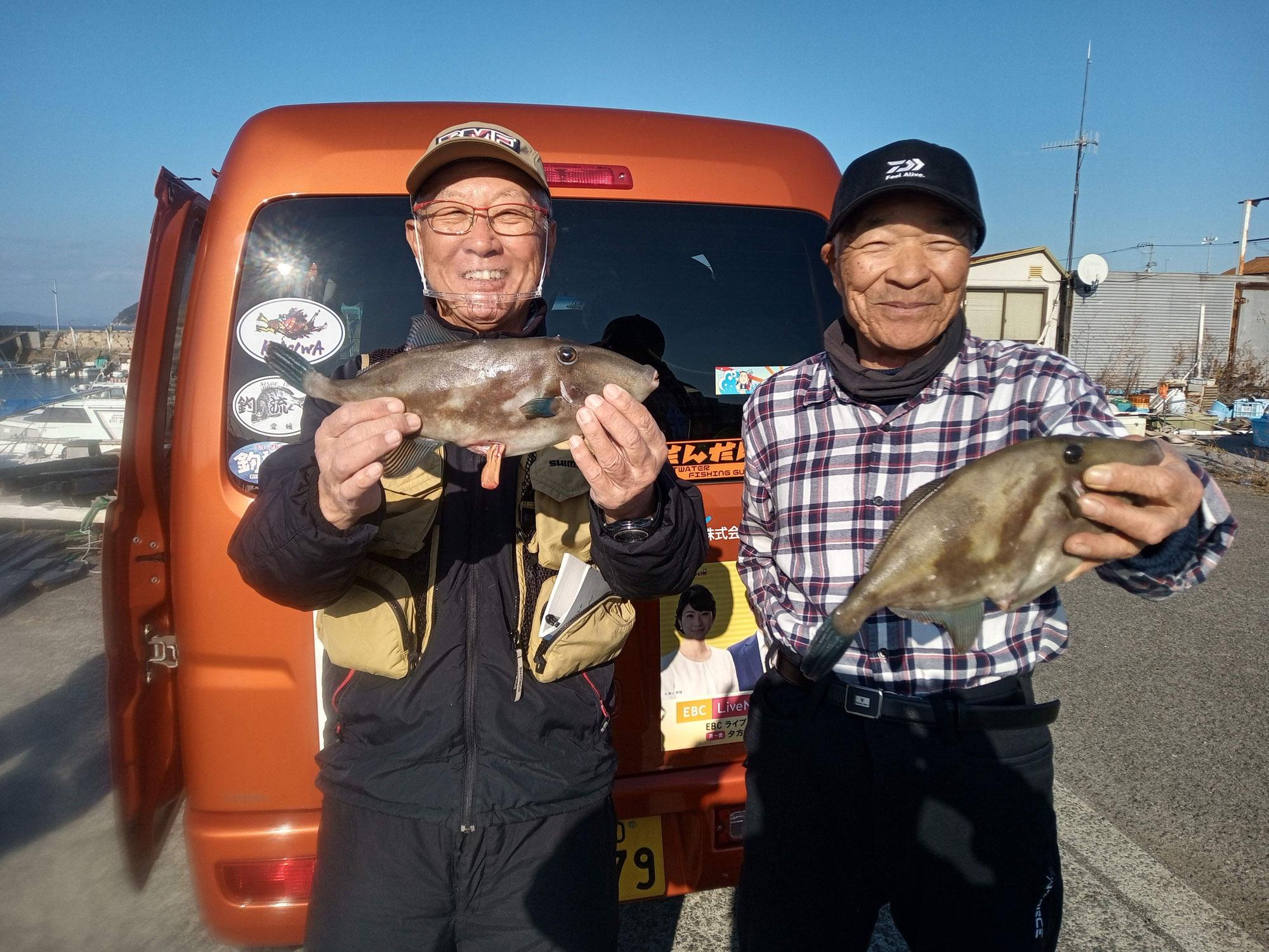 12月26日、1号艇チョーさんの釣り情報の取材