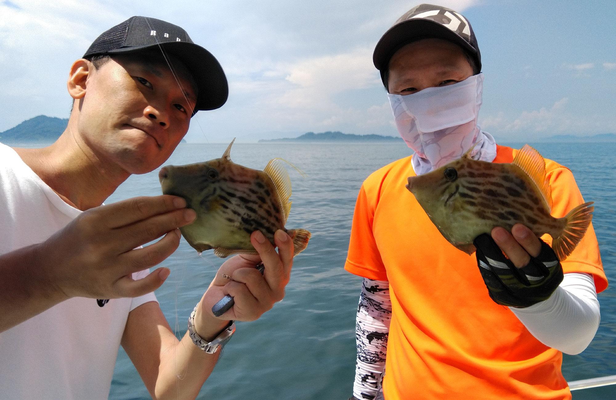 7月13日 カワハギ&鯛釣果
