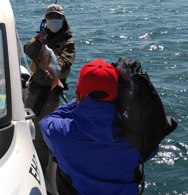 4月11日 チョーさんの釣り情報の取材