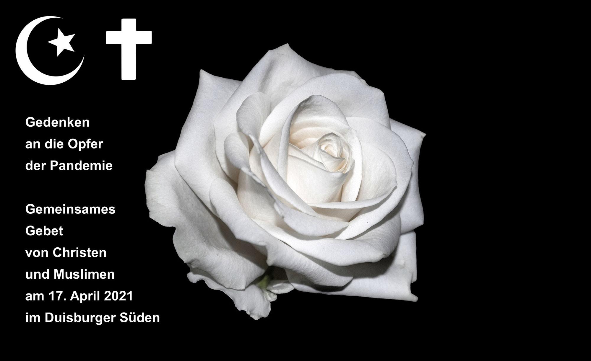 Christen und Muslime gedenken der Pandemie-Opfer