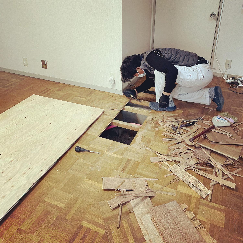 床のリフォーム工事🐾