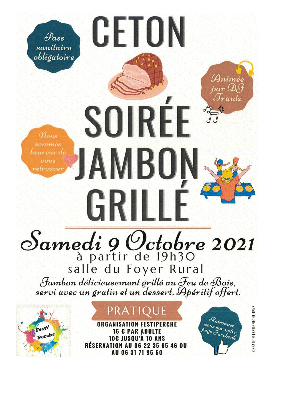 SOIRÉE - Jambon grillé !!