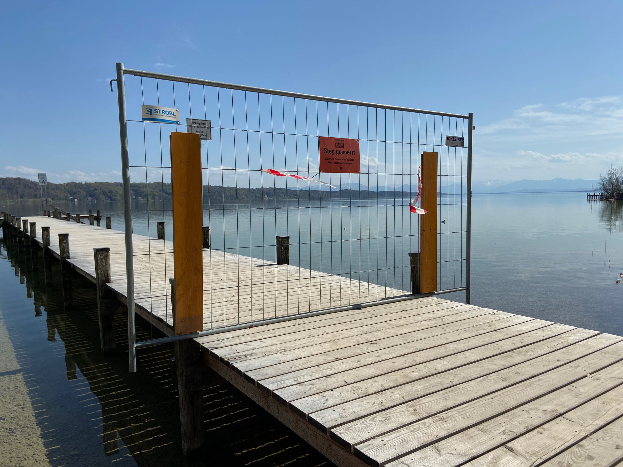 Stege am Starnberger See gesperrt