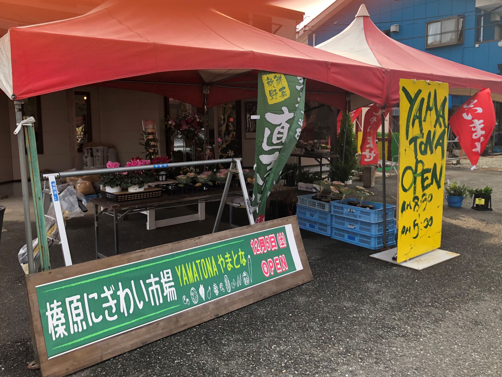 宇陀市 榛原にぎわい市場 やまとな オープン!