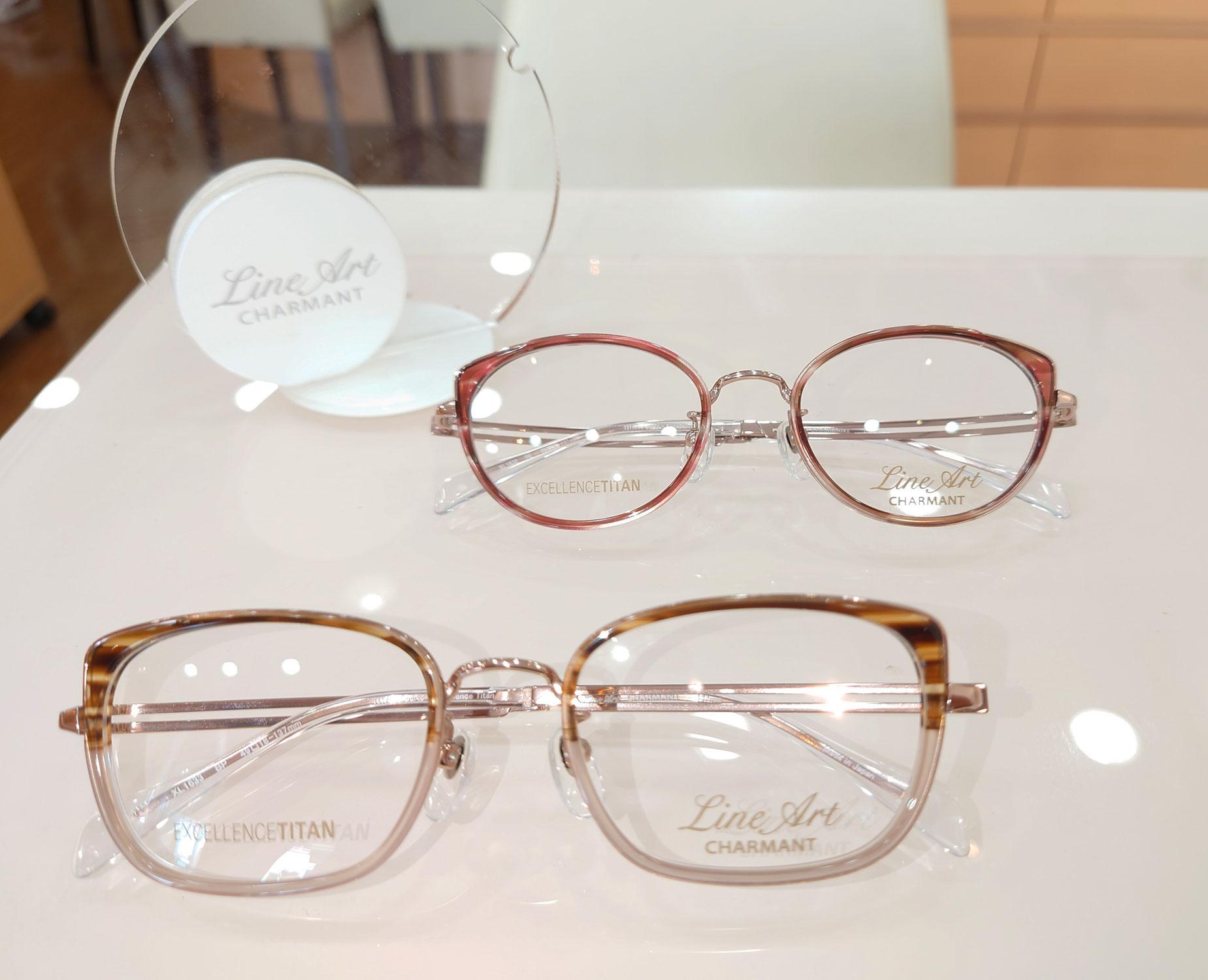 横浜 大口通商店街 糸川メガネのLine Artフレームのご紹介です