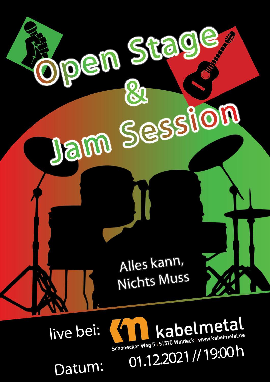 01.12.21 - 19:00 Uhr - Open Stage & Jam Session