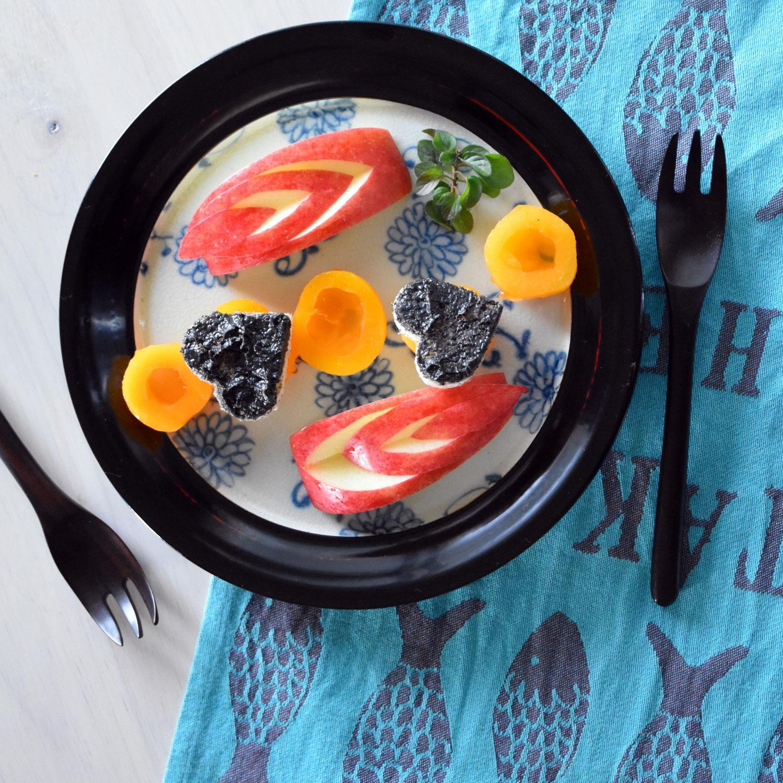 漆陶 中大皿