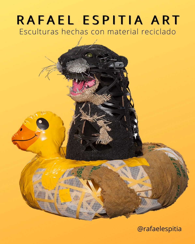 Esculturas hechas con material reciclado