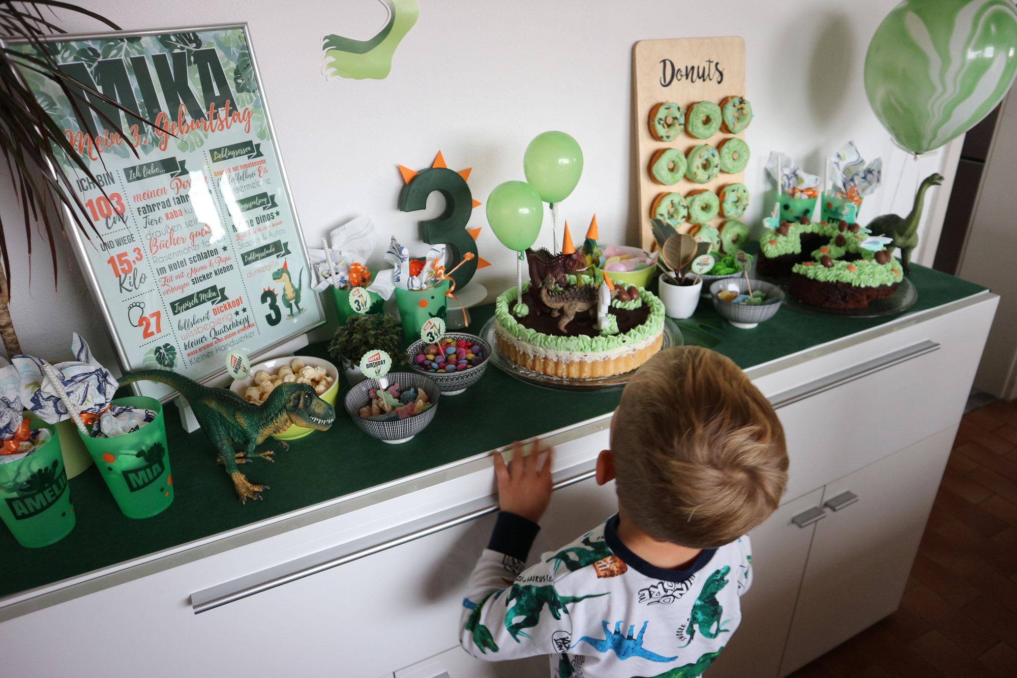 Unsere Dinoparty zum 3. Geburtstag