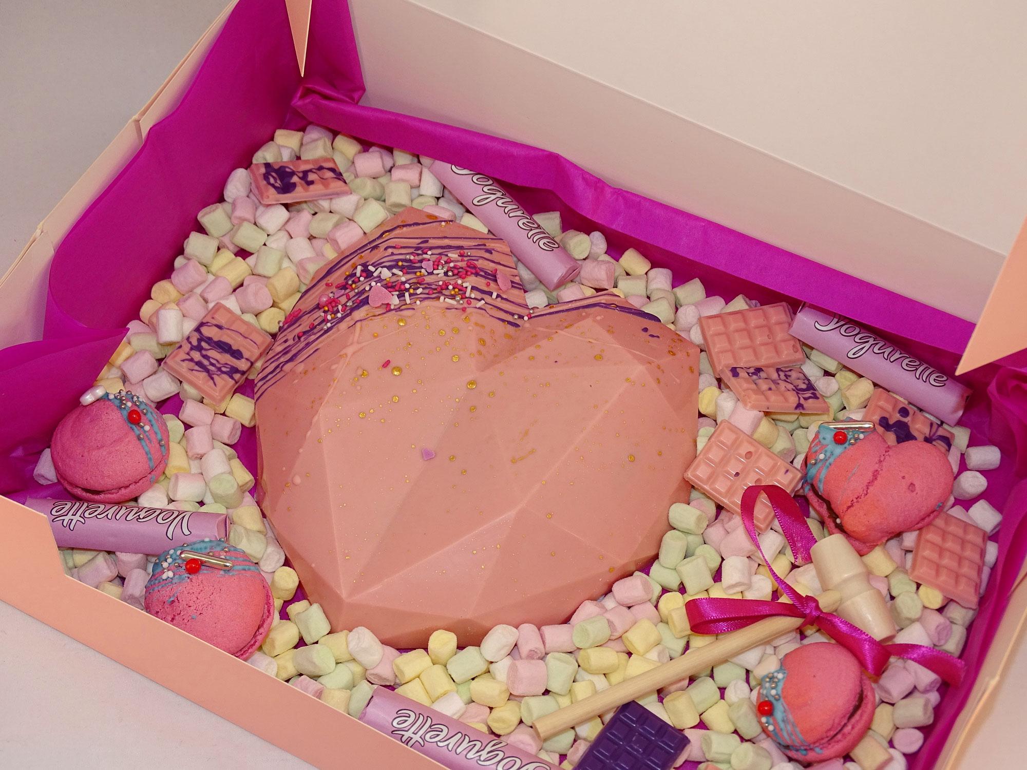 Zerschlagenes Schokoladen Herz