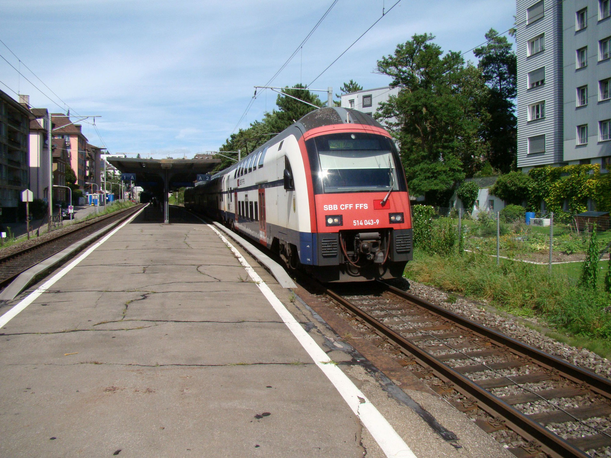 Strecke Zürich HB - Zürich Wipkingen während eines Jahres gesperrt