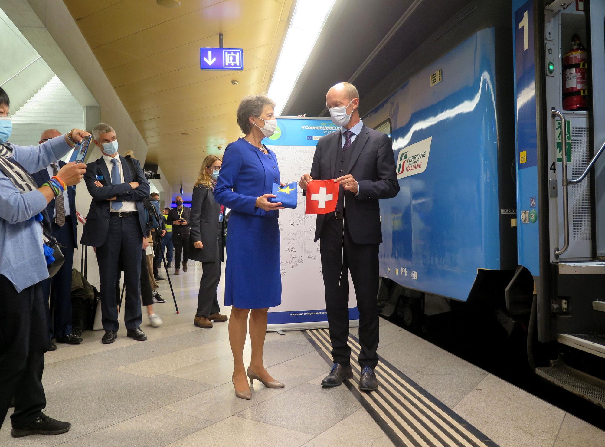 Connecting Europe Express: Sonderzug zum «Jahr der Schiene» im Zeichen der klimafreundlichen Mobilität