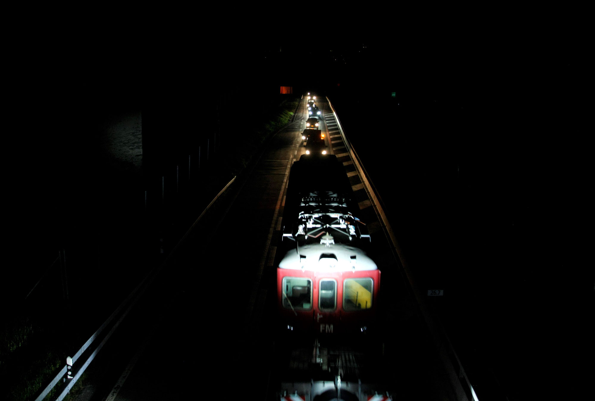 Die erste und letzte Zugfahrt via San Bernardino
