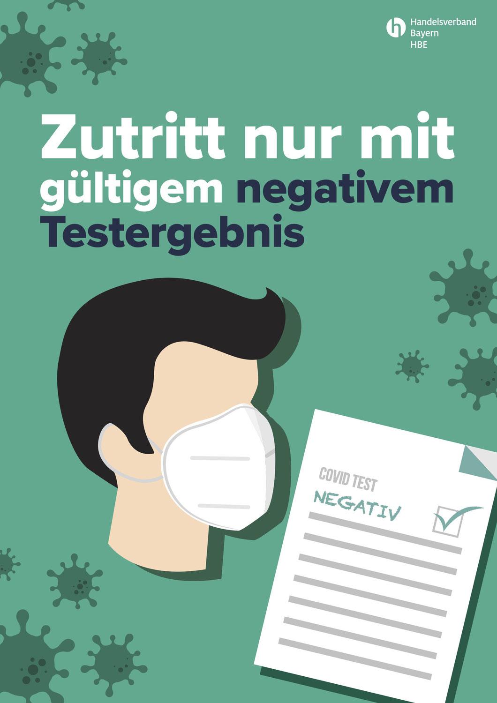 Zutritt nur mit negativem Testergebnis