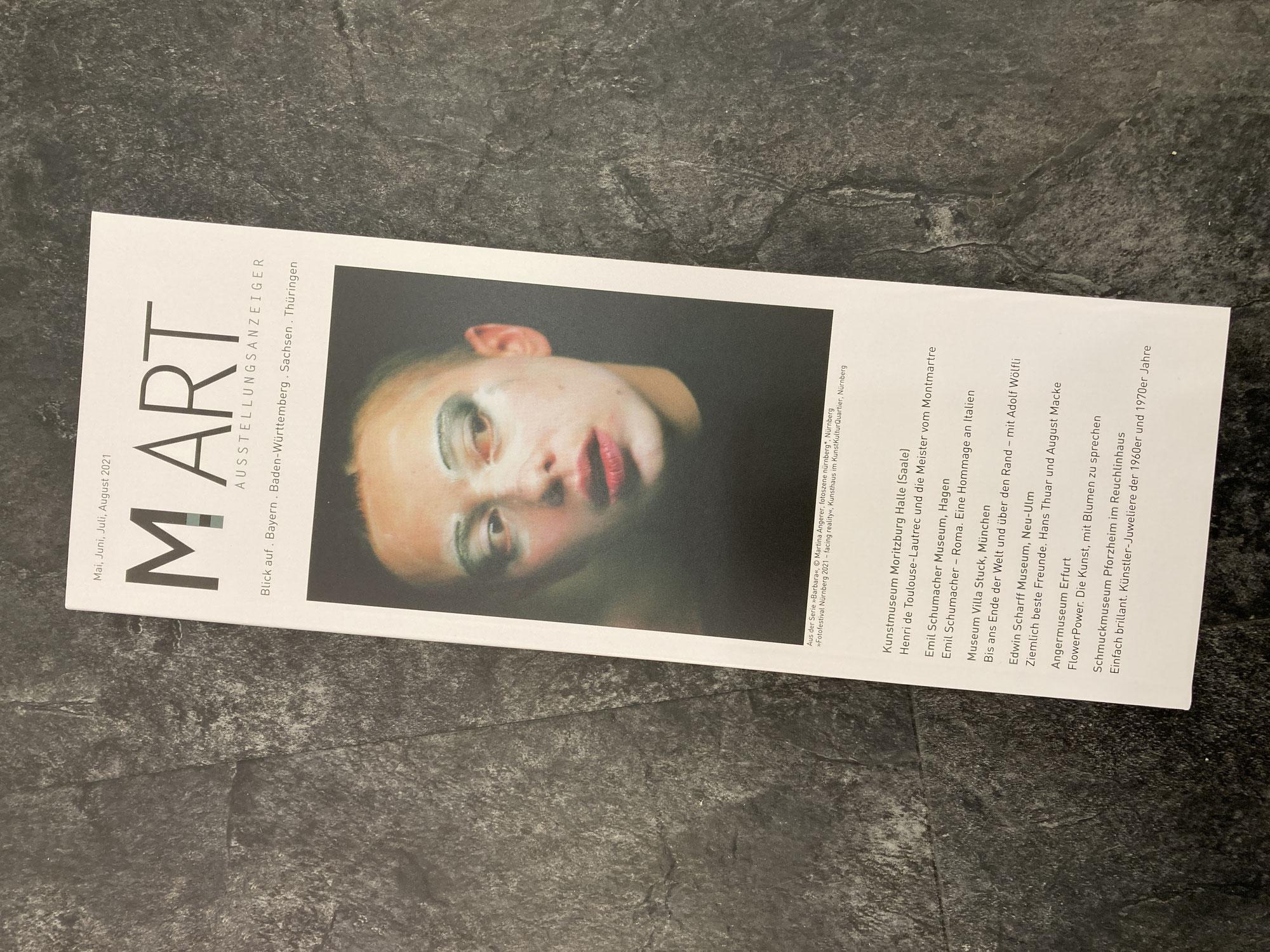Aktuelle M-Art Ausstellunganzeiger verfügbar